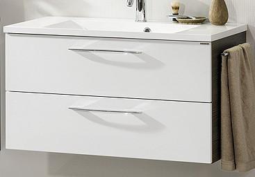 """Waschtisch-Unterschrank """"VADEA"""" Pinie-Anthrazit/Weiss 90 cm breit von FACKELMANN"""