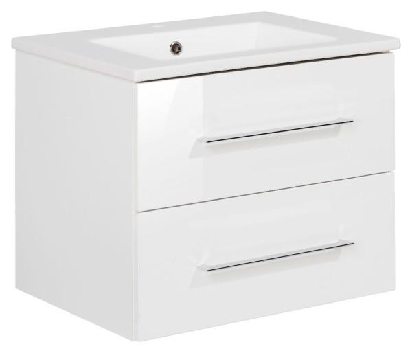 """Waschtisch-Unterschrank mit Becken Set """"B.perfekt"""" Weiss 60 cm breit von FACKELMANN"""