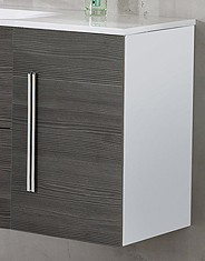 """Waschtisch-Unterbauschrank """"LUGANO"""" Weiss/Pinie 35 cm breit von FACKELMANN"""