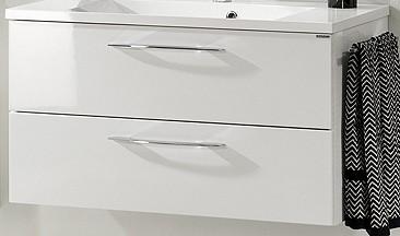 """Waschtisch-Unterschrank """"VADEA"""" Weiß Glanz 90 cm breit von FACKELMANN"""