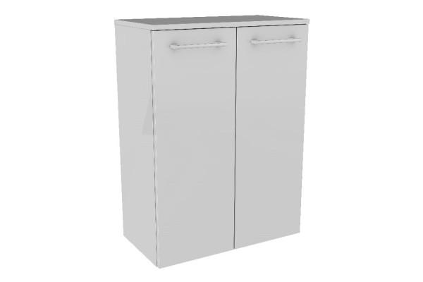 """Doppel-Midischrank """"LINO"""" Weiß 60cm breit von FACKELMANN"""
