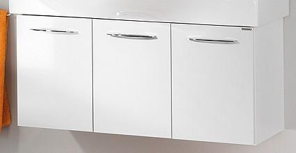 """Waschtisch-Unterschrank """"VADEA"""" Weiß Glanz 94 cm breit von FACKELMANN"""