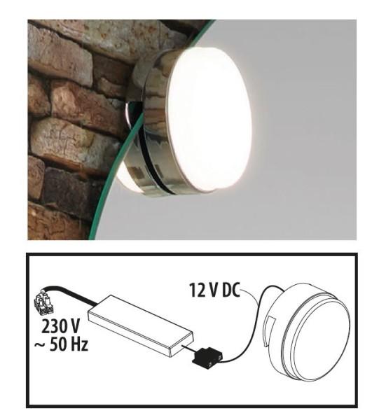 LED-Klemmspot für Flachspiegel von FACKELMANN