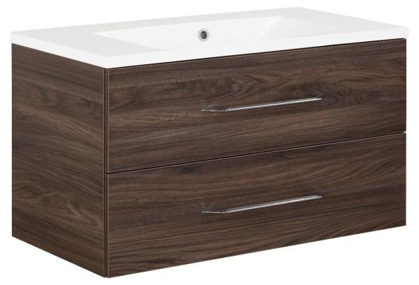 """Waschtisch-Unterschrank mit Becken Set """"B.clever"""" Ulme Madera 90 cm breit von FACKELMANN"""