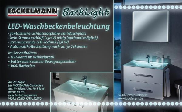 BackLight 80 LED-Waschbeckenbeleuchtung von FACKELMANN