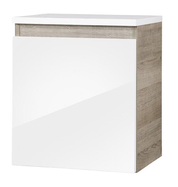 """Unterschrank """"PIURO"""" Eiche/Weiss 41 cm breit von FACKELMANN"""
