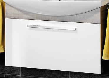 """Waschtisch-Unterschrank """"A-VERO"""" Eiche/Weiss 99 cm breit von FACKELMANN"""