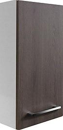 """Hängeschrank """"RONDO"""" Weiss/Eiche Cognac 35cm breit von FACKELMANN"""