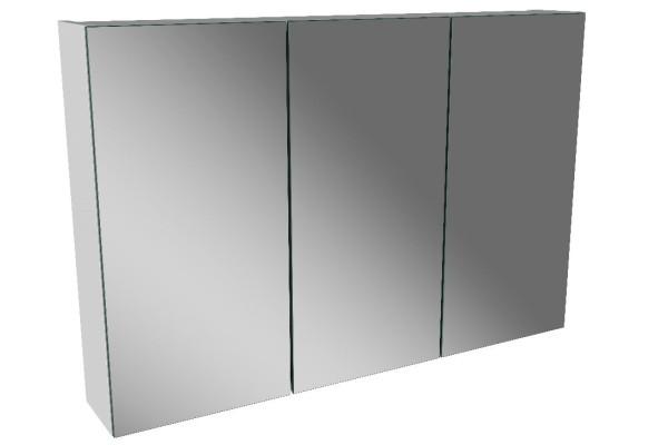 Spiegelschrank - Leuchte L8 - 3 Türen, 90cm breit
