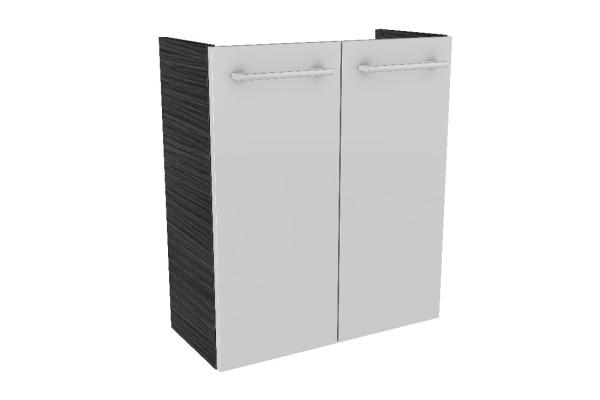 """Mini-Waschtisch-Unterschrank DS """"LINO"""" Dark Oak/Weiß 52cm breit von FACKELMANN"""