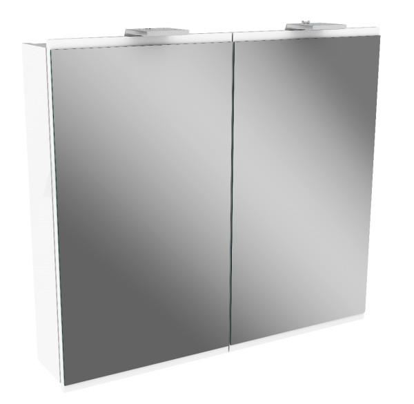 """Spiegelschrank """"Lima"""" Weiss 80 cm breit von FACKELMANN"""