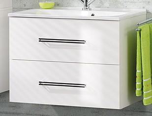 """Waschtisch-Unterschrank """"COMO"""" Weiss 80 cm breit von FACKELMANN"""