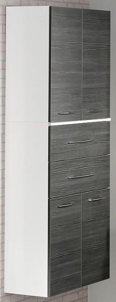 """Doppel-Hochschrank """"VADEA"""" Weiss/Pinie-Anthrazit 71 cm breit von FACKELMANN"""