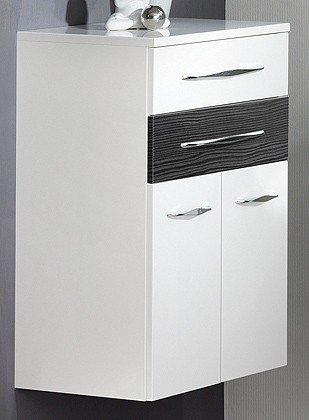 """Doppel-Midischrank """"SCENO"""" Weiss/Pinie 60 cm breit von FACKELMANN"""