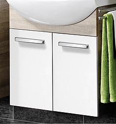 """Waschtisch-Unterschrank """"A-VERO"""" Eiche/Weiss 63 cm breit von FACKELMANN"""