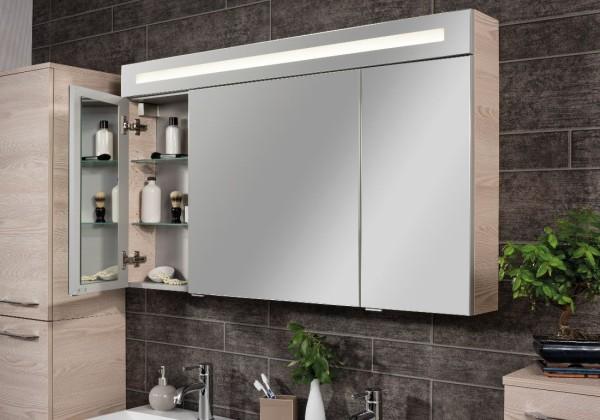 Spiegelschrank B.clever 120cm breit 3 Türen von FACKELMANN