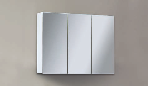 Spiegelschrank - Leuchte L4 LED - 3 Türen, 100cm breit